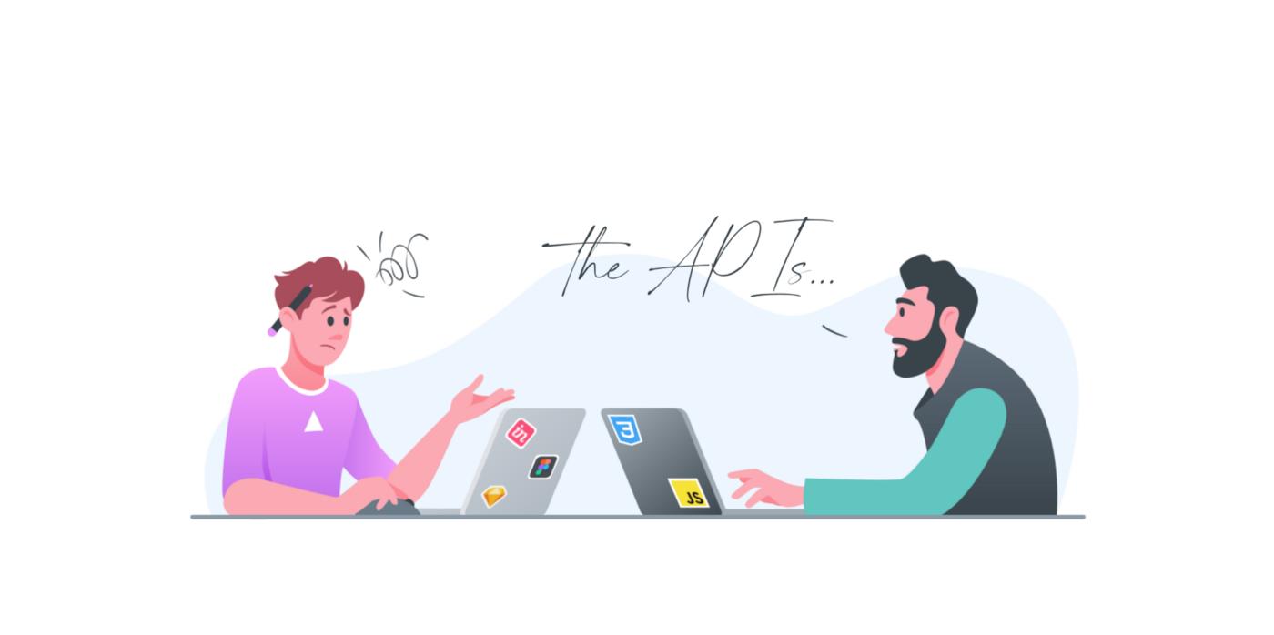 Designer and developer on a meeting