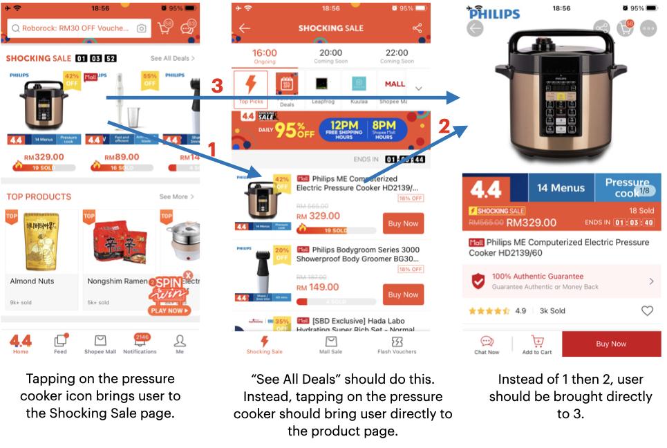 Screenshots for inconsistent UI behaviour